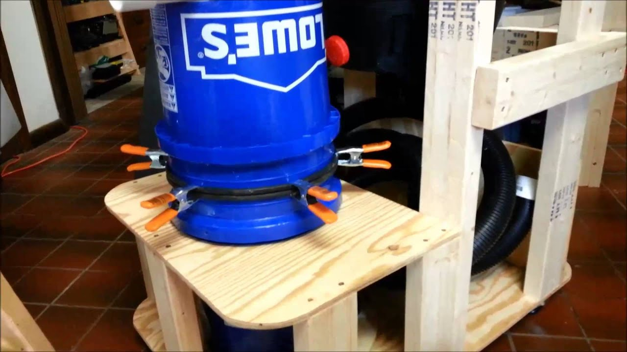 Diy Dust Collector Shop Vac Finished Cart Youtube