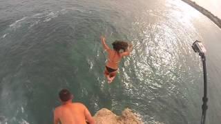 Shipwreck Beach Cliff Jump Kauai Hawaii 2015