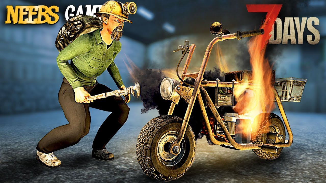 7 days to die how to get minibike wheels
