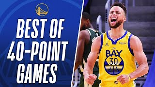 BEST OF Stephen Curry's 4 40-PT Games This Season!