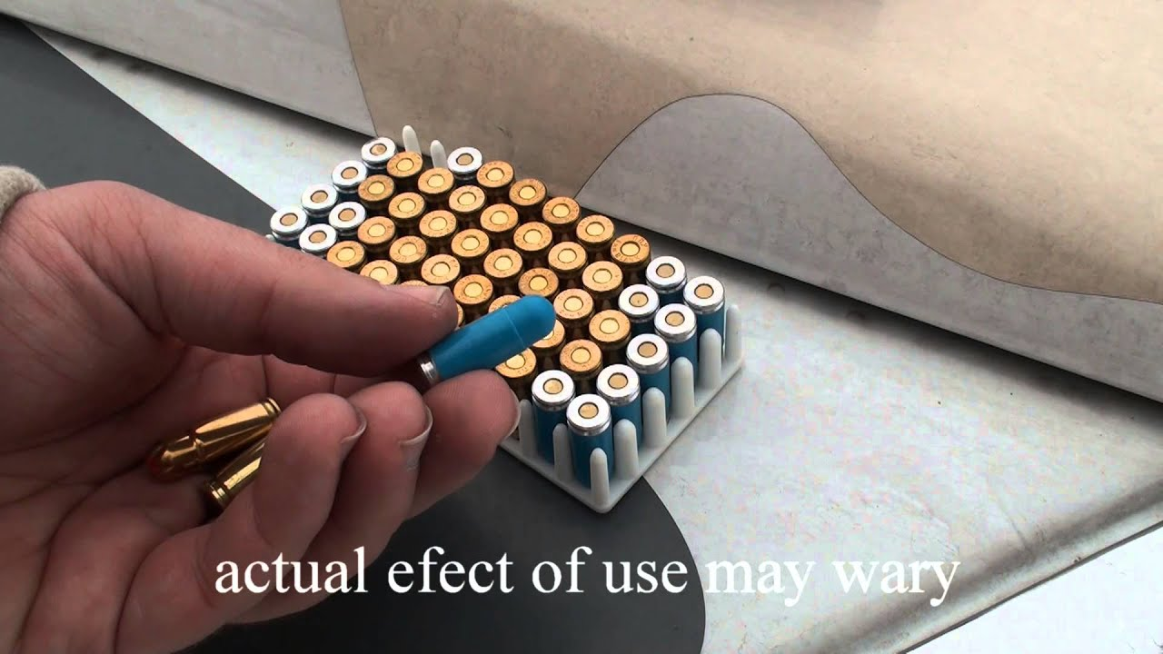 non-lethal 9mm luger plastic bullet and blank acoustic ammunition preview /  test