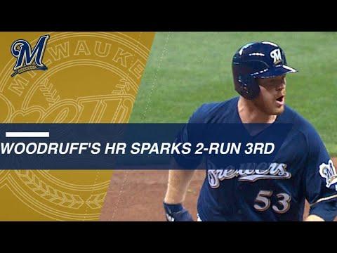 Woodruff's homer off Kershaw keys two-run 3rd inning