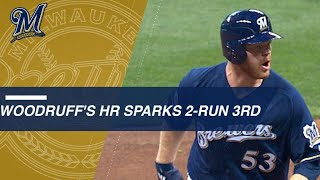 Woodruff's homer off Kershaw keys two-run 3rd inning