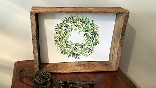 Floral Wreath Drawing Tutorial - Step By Step Art - DIY Home Decor