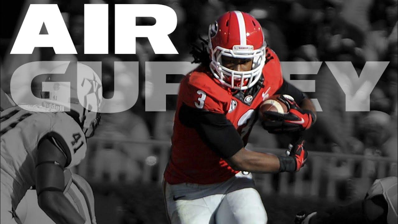 Uga Football Todd Gurley Hurdles Vanderbilt 2014 Youtube