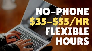 Non-Phone Work-From-Home Jobs Paying $35-$55 per Hour 2020