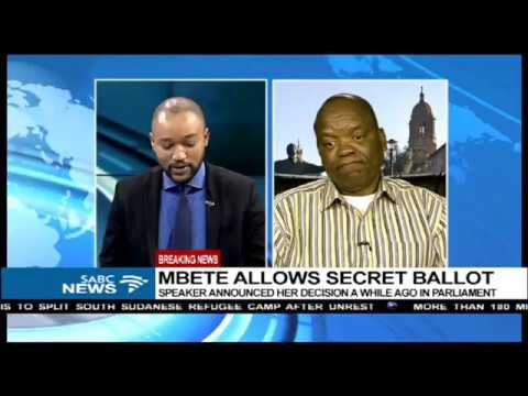 Prof. Lesiba Teffo reacts to Mbete's secret ballot decision