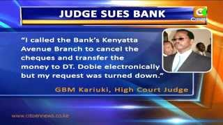 High Court Judge Sues Bank