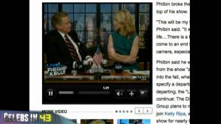 Regis Philbin Retires / Oprah Winfrey Guest on Piers Morgan's CNN Show
