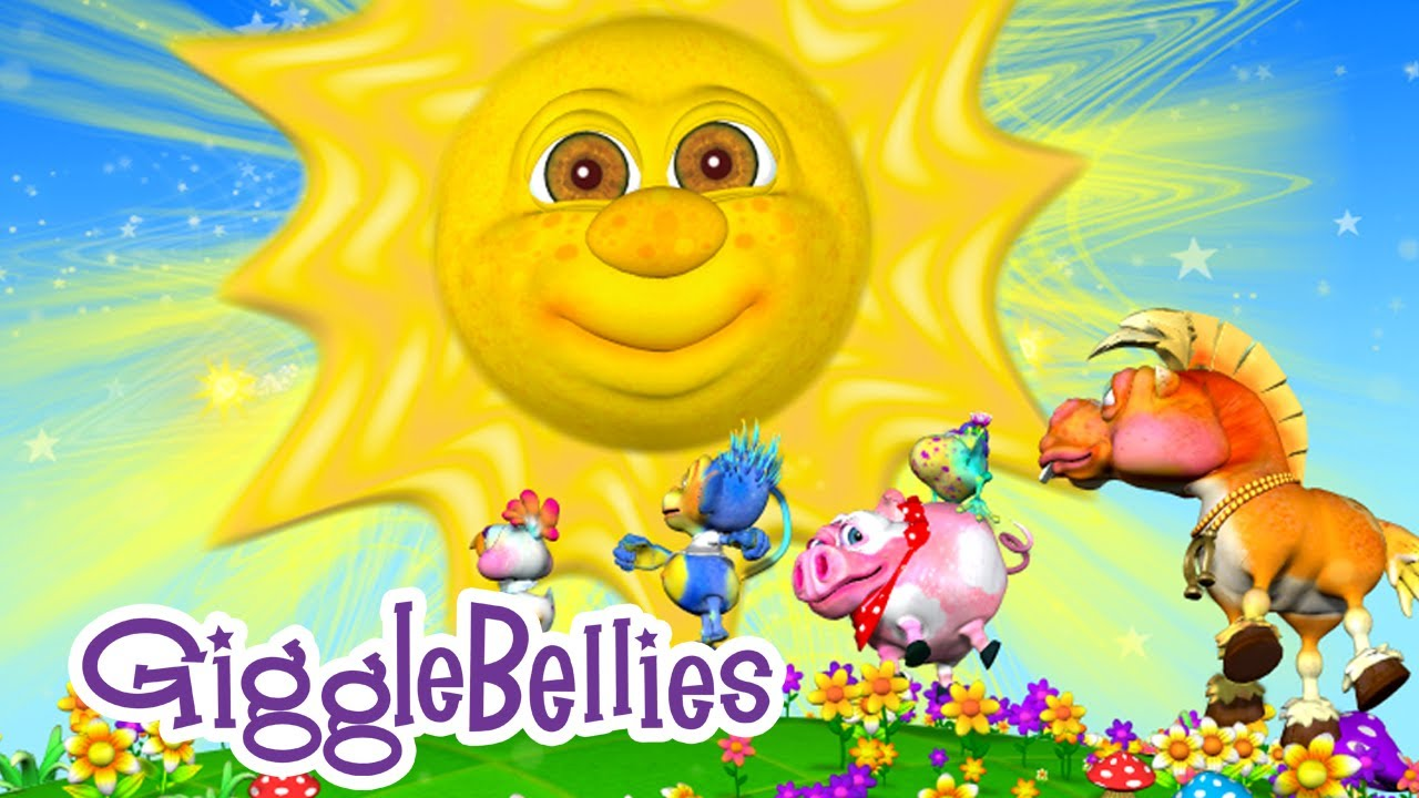 Mr Sun Sun Mister Golden Sun Nursery Rhymes Gigglebellies