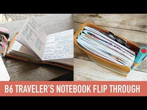 B6 Traveler's Notebook Flip Through   SEPT 2017   Yellow Paper House