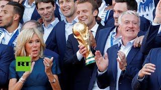 Macron recibe en Francia a los campeones del Mundial Rusia 2018