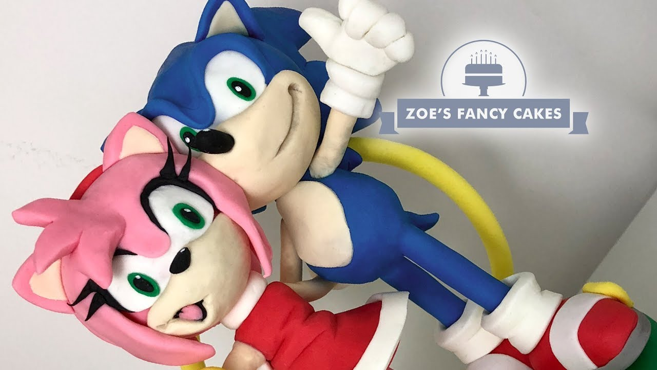 Sonic The Hedgehog Amy Rose Cake Topper Tutorial Youtube