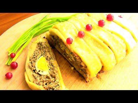 мясной пирог из слоеного теста, рецепт приготовления