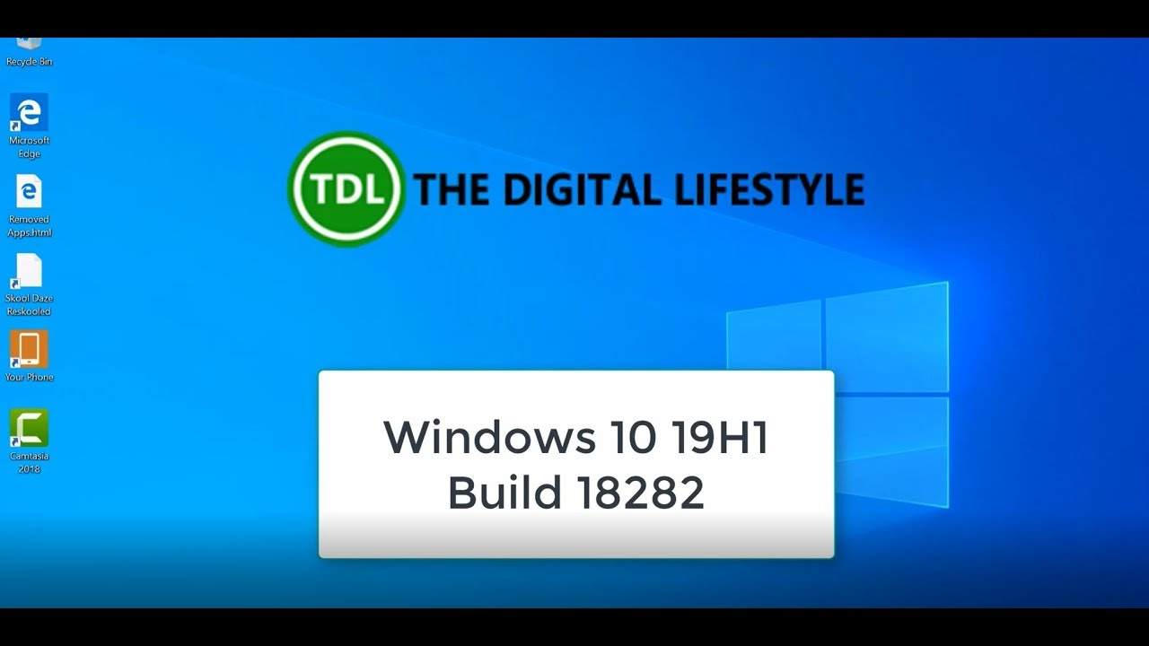 Hands on with Windows 10 19H1 Build 18282, highlighting the new light mode