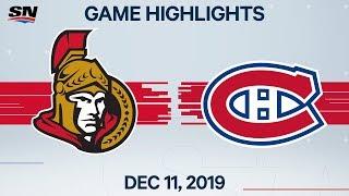 NHL Highlights | Senators vs. Canadiens – Dec. 11, 2019