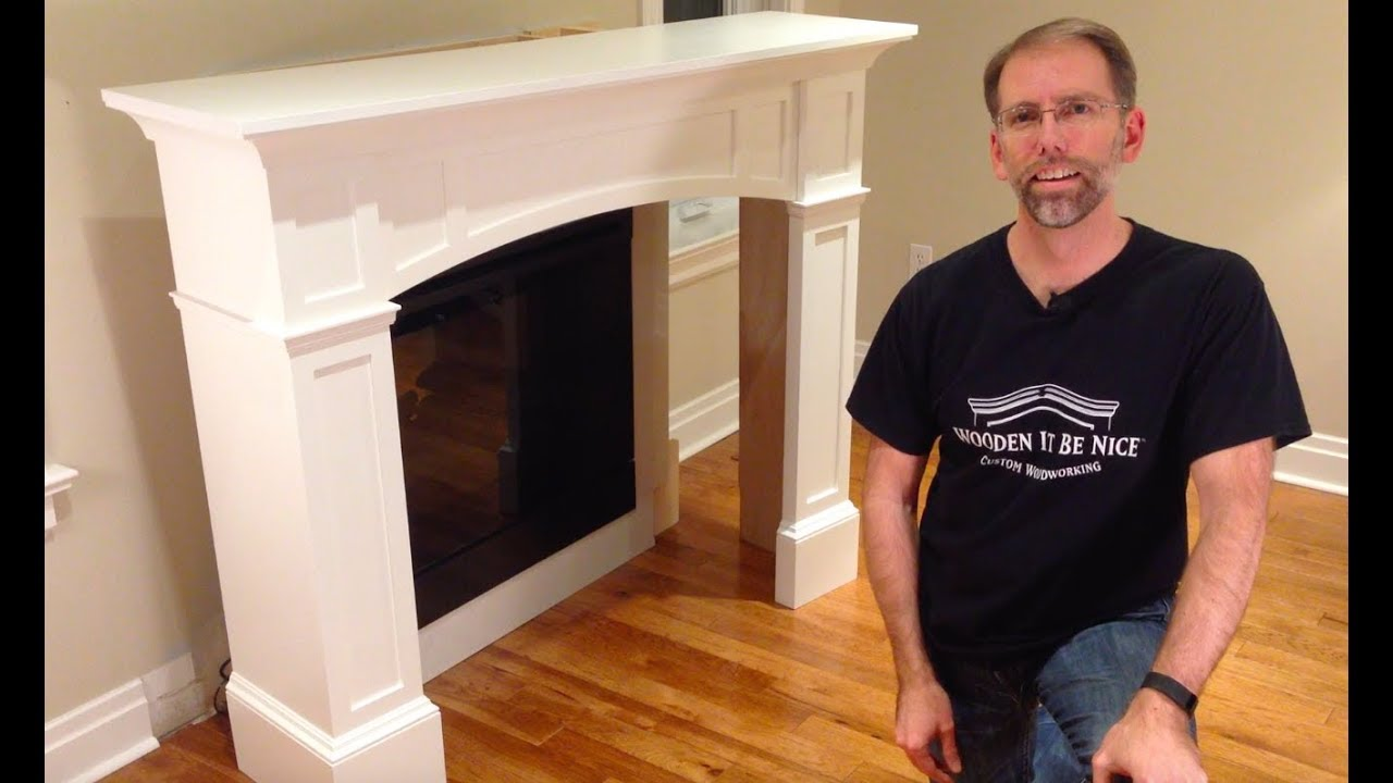 How To Install A Fireplace Mantel Woodworking Plans Available Youtube