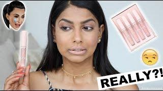 Kylie Cosmetics x Kim Kardashian KKW Lipstick DISASTER!  Swatches on Medium Skin