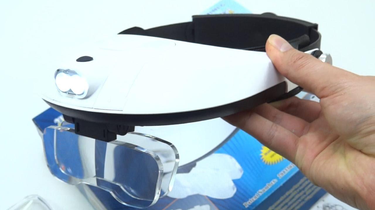 c8c9fef55c Unbox Lupas Manoslibres Visera Ajustable Con 5 Lentes De Aumento Luz LED