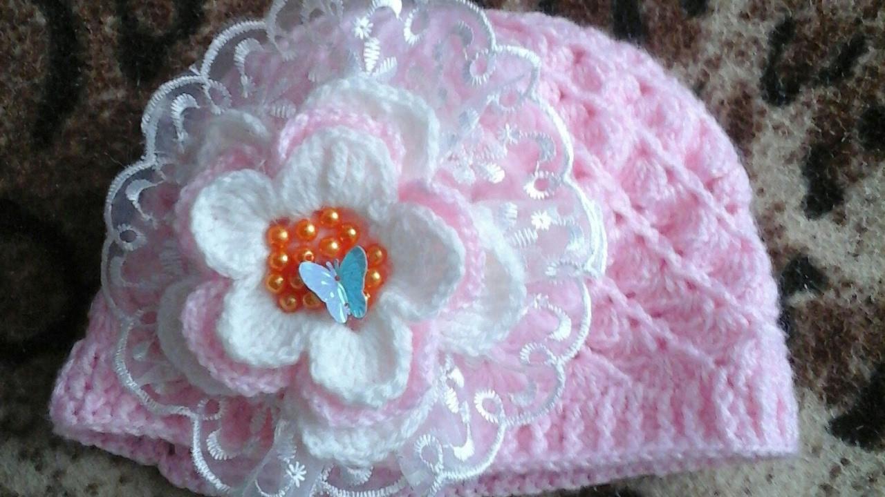 gorro tejidos para recién nacido a crochet parte 1 de 2 - YouTube