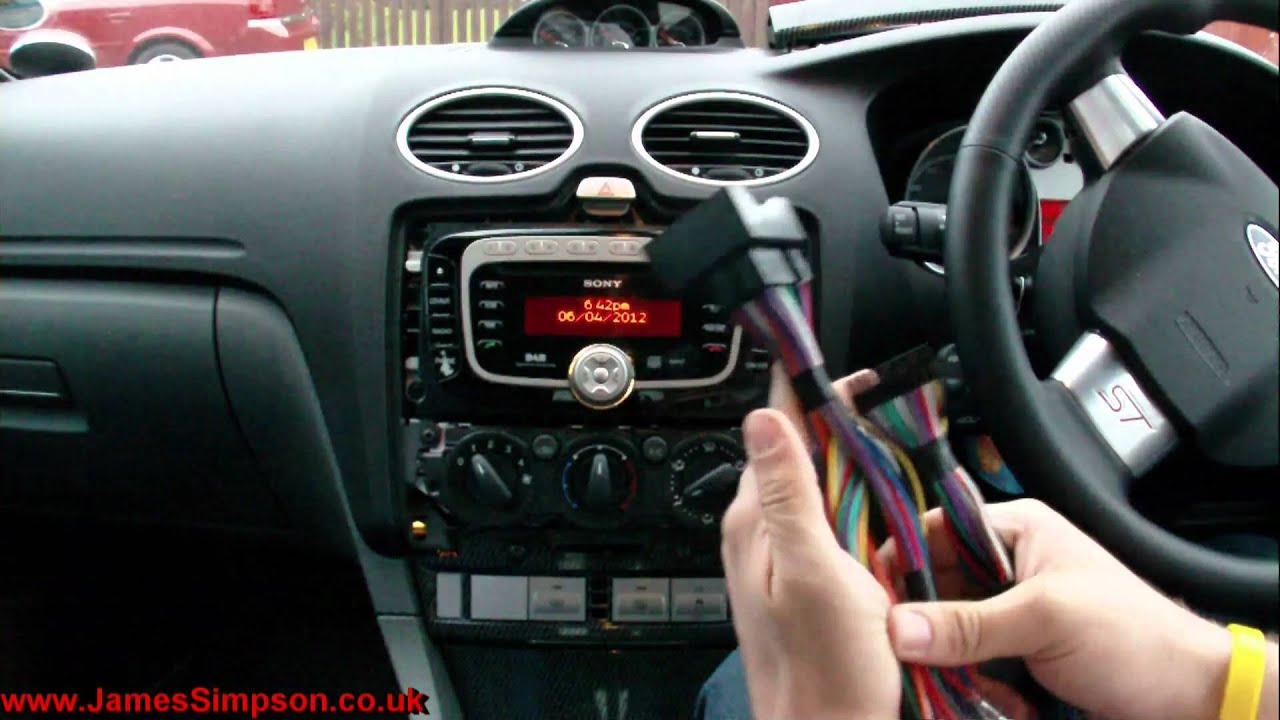 Ford Mondeo Mk4 Radio Wiring Diagram 2000 Mitsubishi Eclipse Gt Focus Mk2 5 2008 2011 Stereo Removal Youtube