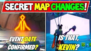 "*NEW* FORTNITE SECRET MAP CHANGES ""EVENT DATE?!"" + ""KEVIN the CUBE IS BACK?"" Season 8 Storyline"