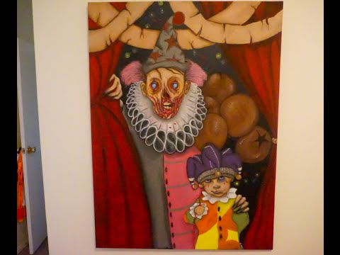 Circus clown Paint Time Lapse - 동영상