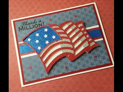 2016 HAPPY MEMORIAL DAY THANKS A MILLION AMERICAN FLAG CARD