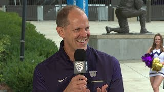 Mike Hopkins joins 'The Pregame' to talk support from Chris Petersen, connecting with Washington...