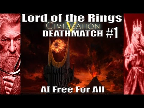 Civ5: Lord of the Rings AI Free For All Deathmatch #1