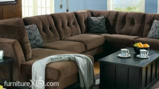 Peyton - Espresso Sectional Living Room Set By Signature Design By Ashley Furniture