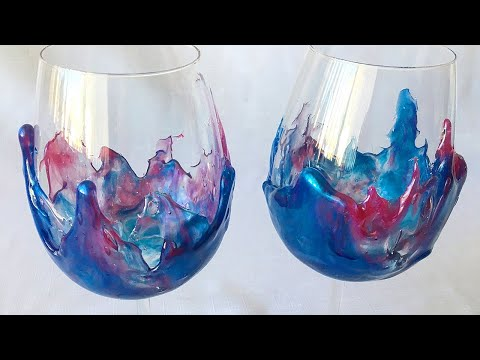 Easy wine glass decorating with Epoxy Resin!