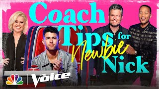 Kelly Clarkson, John Legend and Blake Shelton Share Tips for Rookie Nick
