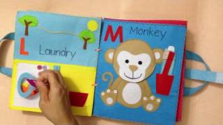 Quiet book for kid/busy book for kid/The first book ABC 2/Ideas for the first book ABC/ABC busy book