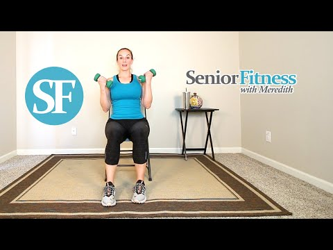 Senior Fitness Seated Resistance Exercises For Seniors Using Dumbbells
