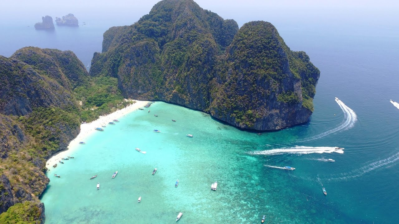 Ko Phi Phi Islands, Thailand in 4K Drone, Music Video ...