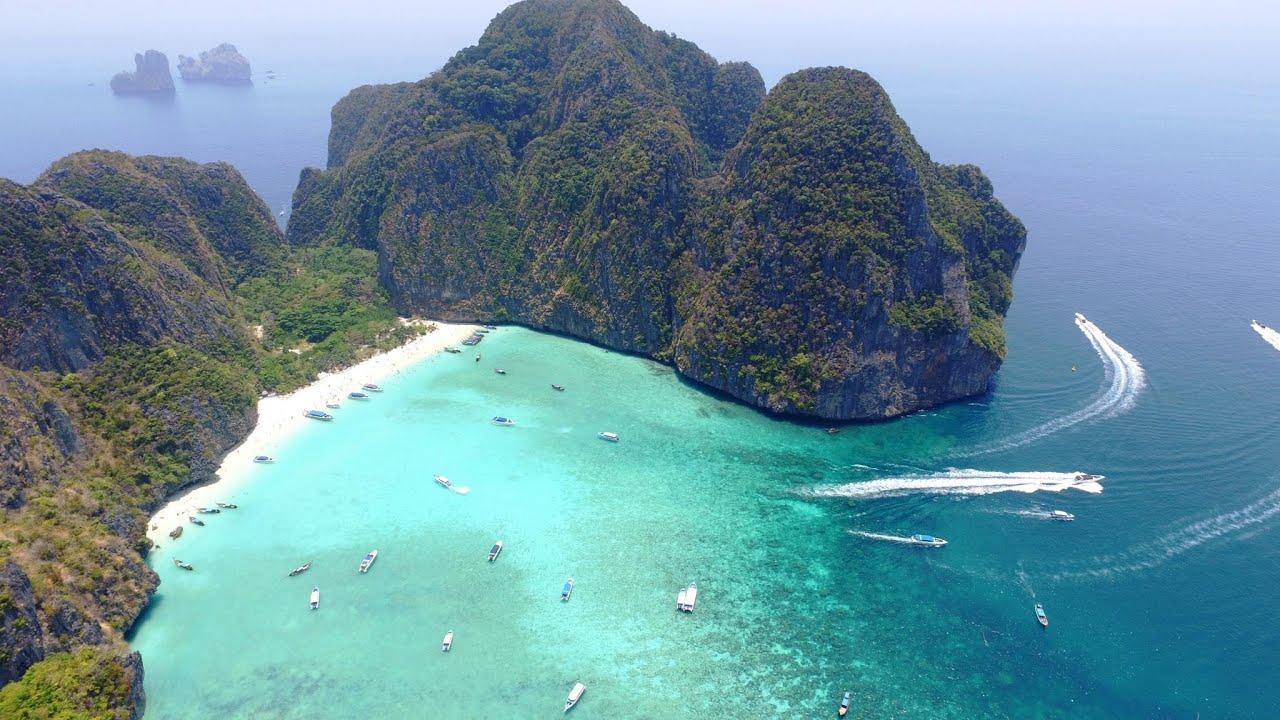 Ko Phi Phi Islands, Thailand in 4K Drone, Music Video ...