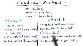 Conditional Wait Variables