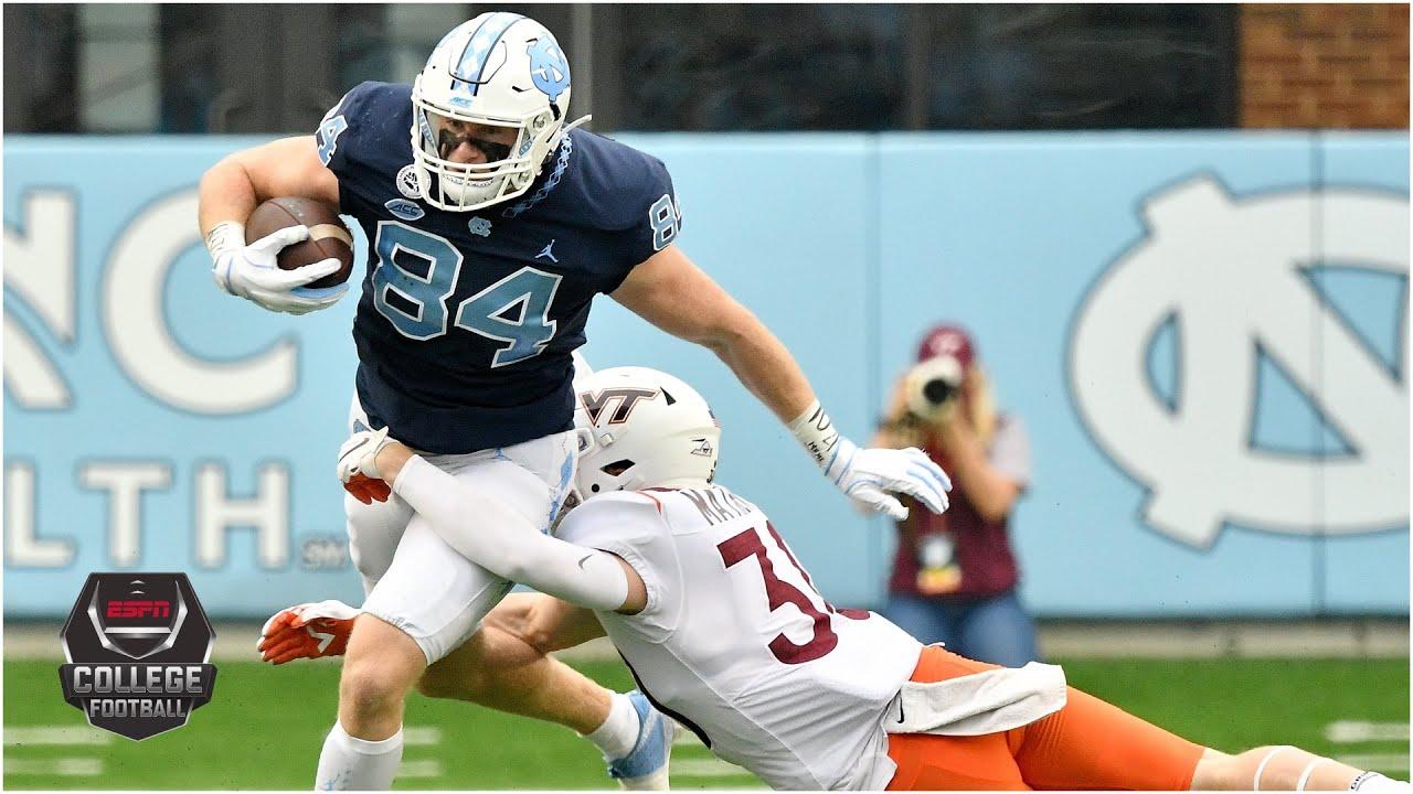 Virginia Tech Hokies vs. North Carolina Tar Heels | 2020 College Football Highlights