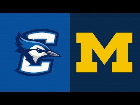 2019 College Basketball Creighton vs Michigan Highlights