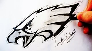Como Desenhar a logo Philadelphia Eagles - (How to Draw Philadelphia Eagles logo) - NFL LOGOS #1