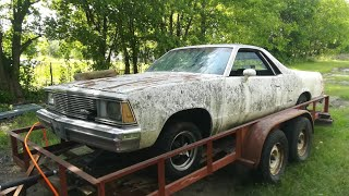 1981-el-camino-left-on-a-trailer-for-21-years-dragged-from-it-s-grave
