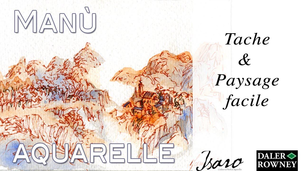 Tache paysage facile aquarelle de l 39 avent 2 true for Aquarelle facile