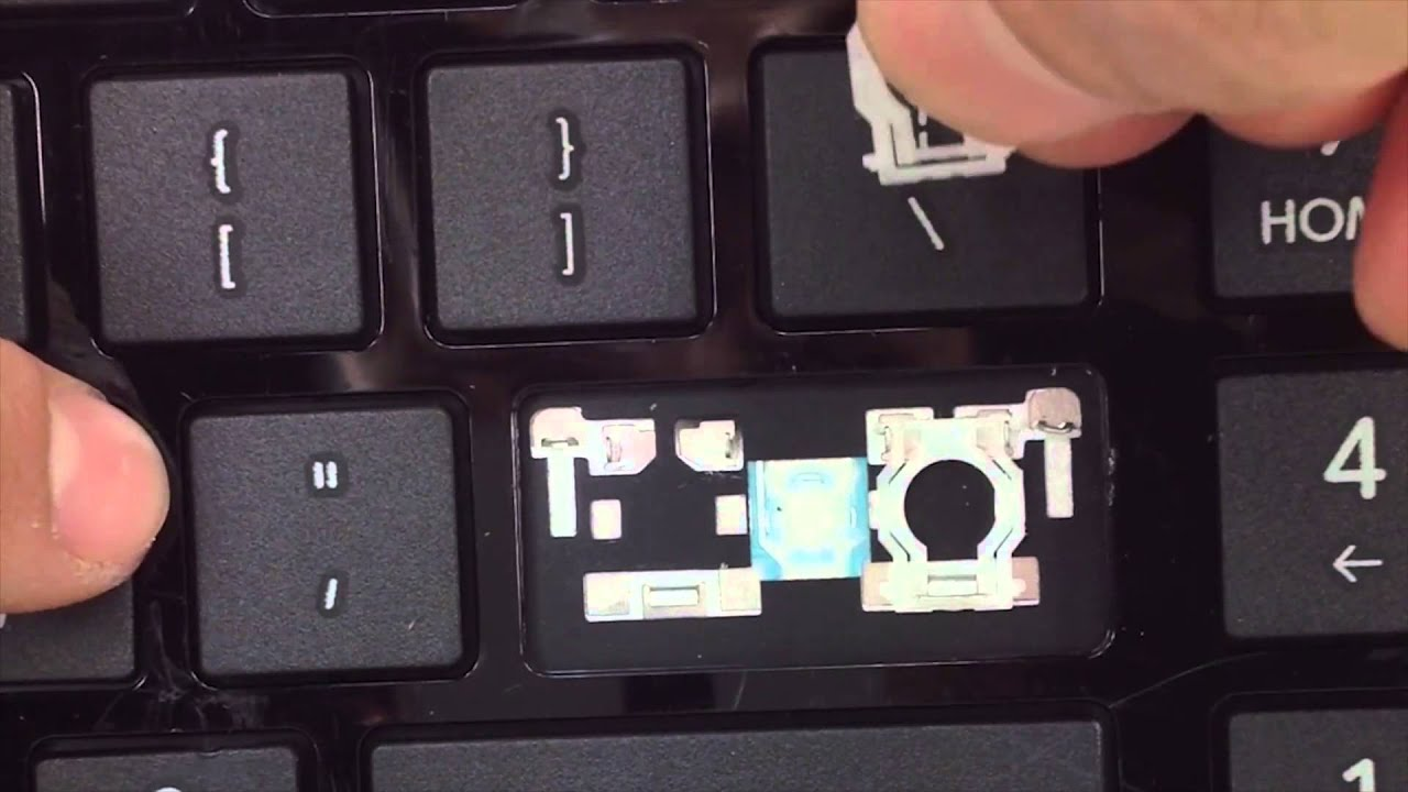 hp laptop key fell off how to put back on
