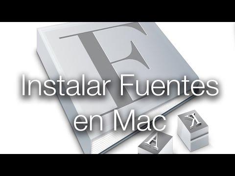 Tutorial para instalar letras en Mac | Muy fácil
