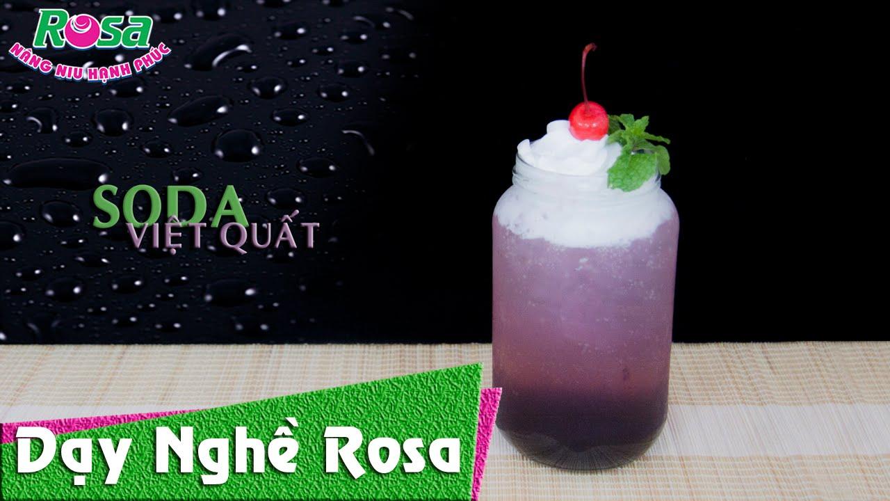 Soda Việt Quất Bluberry – dễ làm mát lạnh thơm ngon