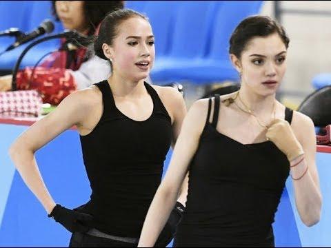Олимпиада-2018. Евгения Медведева пародирует Алину Загитову
