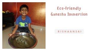 ECO-Friendly Ganesh Chathurthi celebration || Eco-Friendly Ganpati Visarjan at Home ||