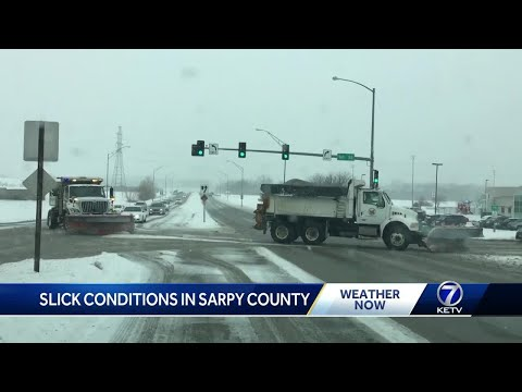 Team coverage of road conditions, weather updates