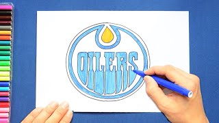 How to draw and color the Edmonton Oilers Logo - NHL Team Series